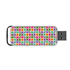 Modernist Floral Tiles Portable Usb Flash (two Sides) by DanaeStudio