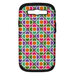Modernist Floral Tiles Samsung Galaxy S Iii Hardshell Case (pc+silicone) by DanaeStudio