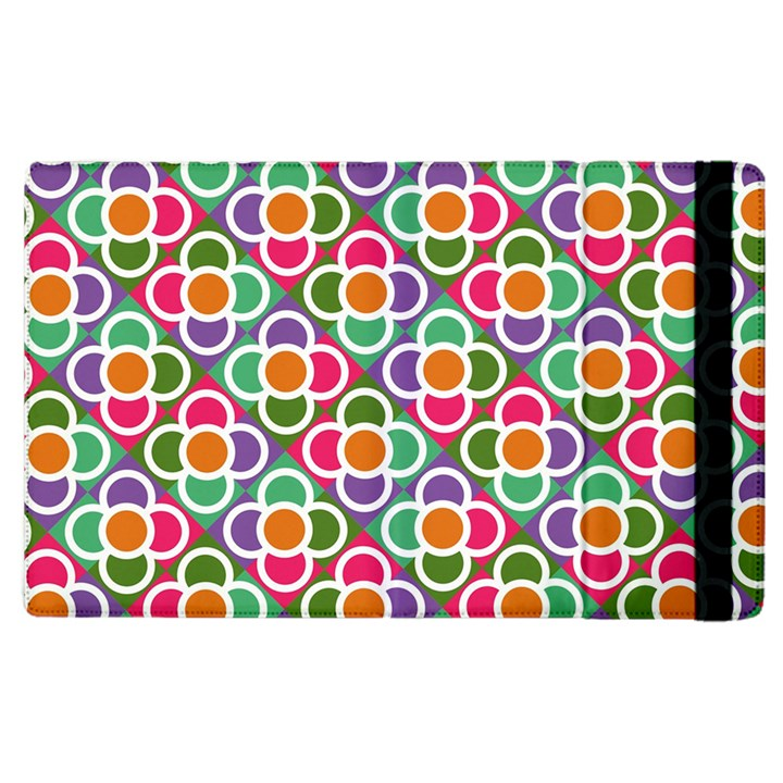 Modernist Floral Tiles Apple iPad 2 Flip Case