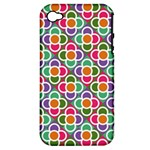 Modernist Floral Tiles Apple iPhone 4/4S Hardshell Case (PC+Silicone)