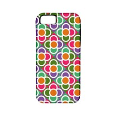 Modernist Floral Tiles Apple Iphone 5 Classic Hardshell Case (pc+silicone) by DanaeStudio