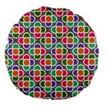 Modernist Floral Tiles Large 18  Premium Round Cushions