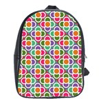 Modernist Floral Tiles School Bags (XL)  Front