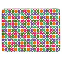 Modernist Floral Tiles Samsung Galaxy Tab 7  P1000 Flip Case by DanaeStudio