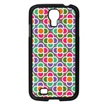 Modernist Floral Tiles Samsung Galaxy S4 I9500/ I9505 Case (Black)