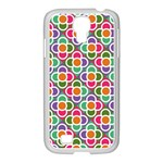 Modernist Floral Tiles Samsung GALAXY S4 I9500/ I9505 Case (White) Front