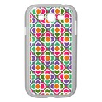 Modernist Floral Tiles Samsung Galaxy Grand DUOS I9082 Case (White) Front