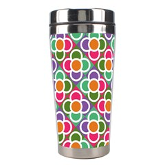 Modernist Floral Tiles Stainless Steel Travel Tumblers by DanaeStudio