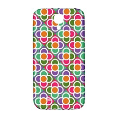 Modernist Floral Tiles Samsung Galaxy S4 I9500/i9505  Hardshell Back Case by DanaeStudio