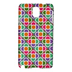 Modernist Floral Tiles Samsung Galaxy Note 3 N9005 Hardshell Case by DanaeStudio