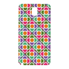 Modernist Floral Tiles Samsung Galaxy Note 3 N9005 Hardshell Back Case by DanaeStudio
