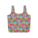 Modernist Floral Tiles Full Print Recycle Bags (S)