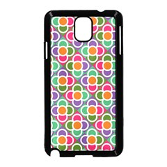 Modernist Floral Tiles Samsung Galaxy Note 3 Neo Hardshell Case (Black)
