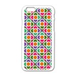 Modernist Floral Tiles Apple iPhone 6/6S White Enamel Case
