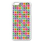 Modernist Floral Tiles Apple iPhone 6 Plus/6S Plus Enamel White Case