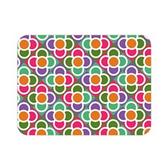 Modernist Floral Tiles Double Sided Flano Blanket (mini)  by DanaeStudio