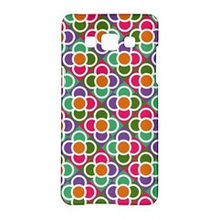Modernist Floral Tiles Samsung Galaxy A5 Hardshell Case  by DanaeStudio