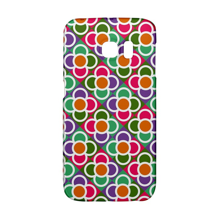 Modernist Floral Tiles Galaxy S6 Edge