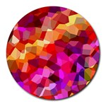Geometric Fall Pattern Round Mousepads Front