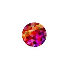 Geometric Fall Pattern 1  Mini Magnets by DanaeStudio
