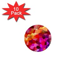 Geometric Fall Pattern 1  Mini Magnet (10 Pack)  by DanaeStudio