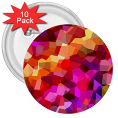 Geometric Fall Pattern 3  Buttons (10 Pack)  by DanaeStudio