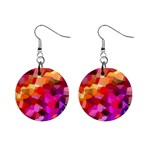 Geometric Fall Pattern Mini Button Earrings Front
