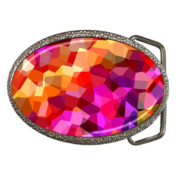 Geometric Fall Pattern Belt Buckles