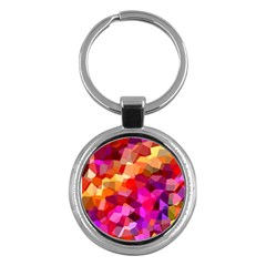 Geometric Fall Pattern Key Chains (round)