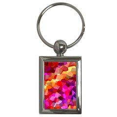 Geometric Fall Pattern Key Chains (rectangle)