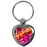 Geometric Fall Pattern Key Chains (Heart)  Front