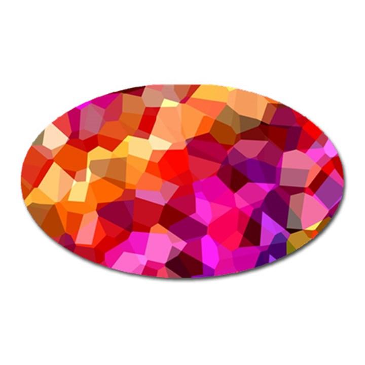 Geometric Fall Pattern Oval Magnet