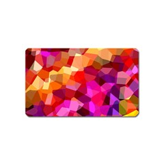 Geometric Fall Pattern Magnet (name Card) by DanaeStudio