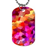 Geometric Fall Pattern Dog Tag (One Side) Front