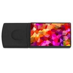 Geometric Fall Pattern USB Flash Drive Rectangular (2 GB)  by DanaeStudio