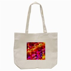 Geometric Fall Pattern Tote Bag (cream) by DanaeStudio