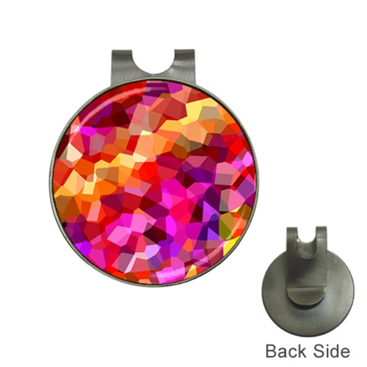 Geometric Fall Pattern Hat Clips with Golf Markers