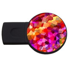 Geometric Fall Pattern Usb Flash Drive Round (4 Gb)  by DanaeStudio