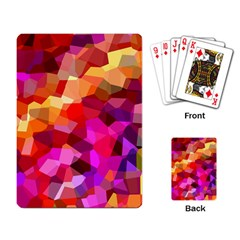 Geometric Fall Pattern Playing Card by DanaeStudio