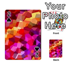 Geometric Fall Pattern Playing Cards 54 Designs  by DanaeStudio