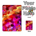 Geometric Fall Pattern Playing Cards 54 Designs  Front - Heart10