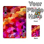 Geometric Fall Pattern Playing Cards 54 Designs  Front - Spade5