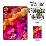 Geometric Fall Pattern Playing Cards 54 Designs  Front - Diamond10