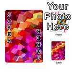 Geometric Fall Pattern Playing Cards 54 Designs  Front - Joker1