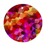 Geometric Fall Pattern Round Ornament (Two Sides)  Back