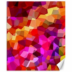 Geometric Fall Pattern Canvas 8  X 10  by DanaeStudio