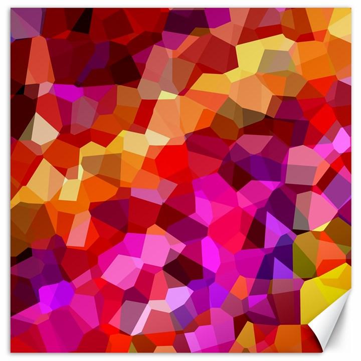 Geometric Fall Pattern Canvas 20  x 20
