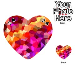 Geometric Fall Pattern Playing Cards 54 (heart)  by DanaeStudio