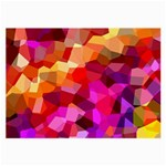 Geometric Fall Pattern Large Glasses Cloth (2-Side) Front