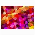 Geometric Fall Pattern Large Glasses Cloth (2-Side) Back